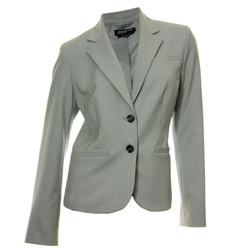 Jones New York Gray Olivia Made to Mix Stretch Blazer Jacket
