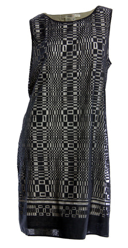 Studio M Black Lace Overlay Sleeveless Shift Dress