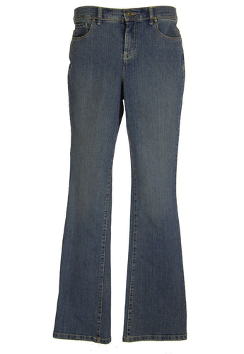 Style & Co Blue Denim Tummy Control Boot Cut Jeans
