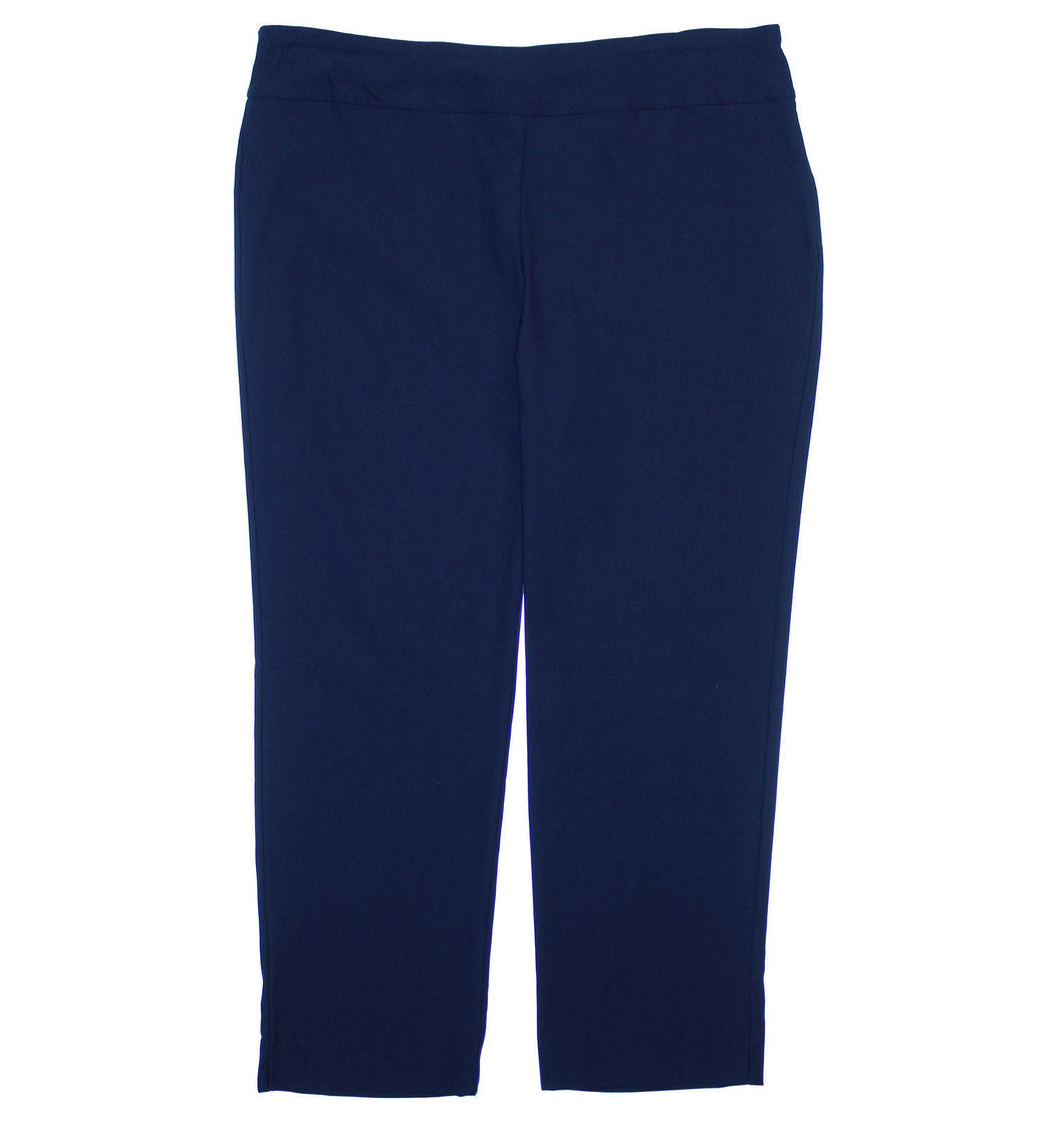 Charter Club Blue Tummy Control Pull On Slim Leg Pants