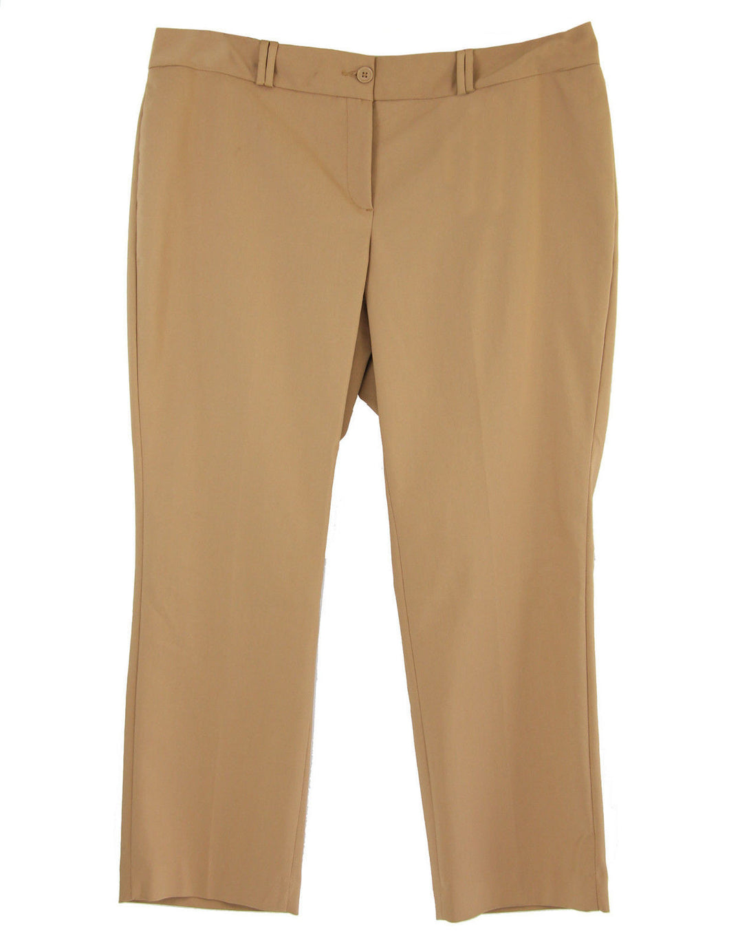 Charter Club Dark Beige Tummy Slimming Slim Leg Ankle Length Pants