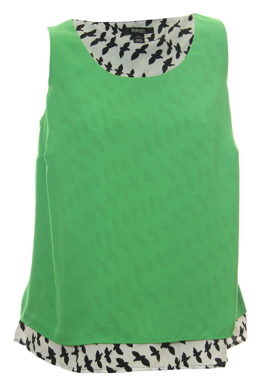 Style & Co Multi Color Animal Print Sleeveless Tank Blouse