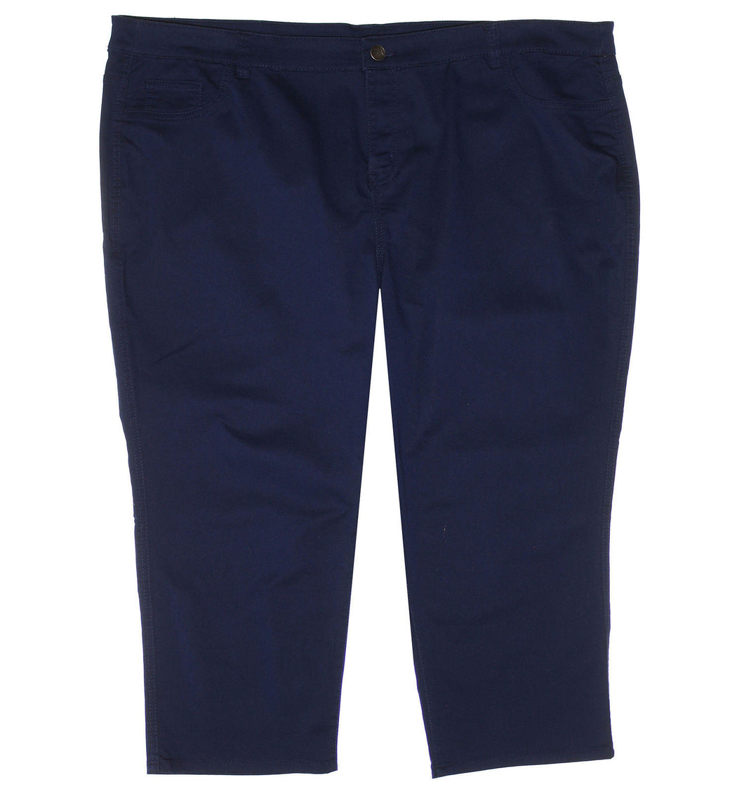 Style & Co Blue Tummy Control Capri Casual Pants