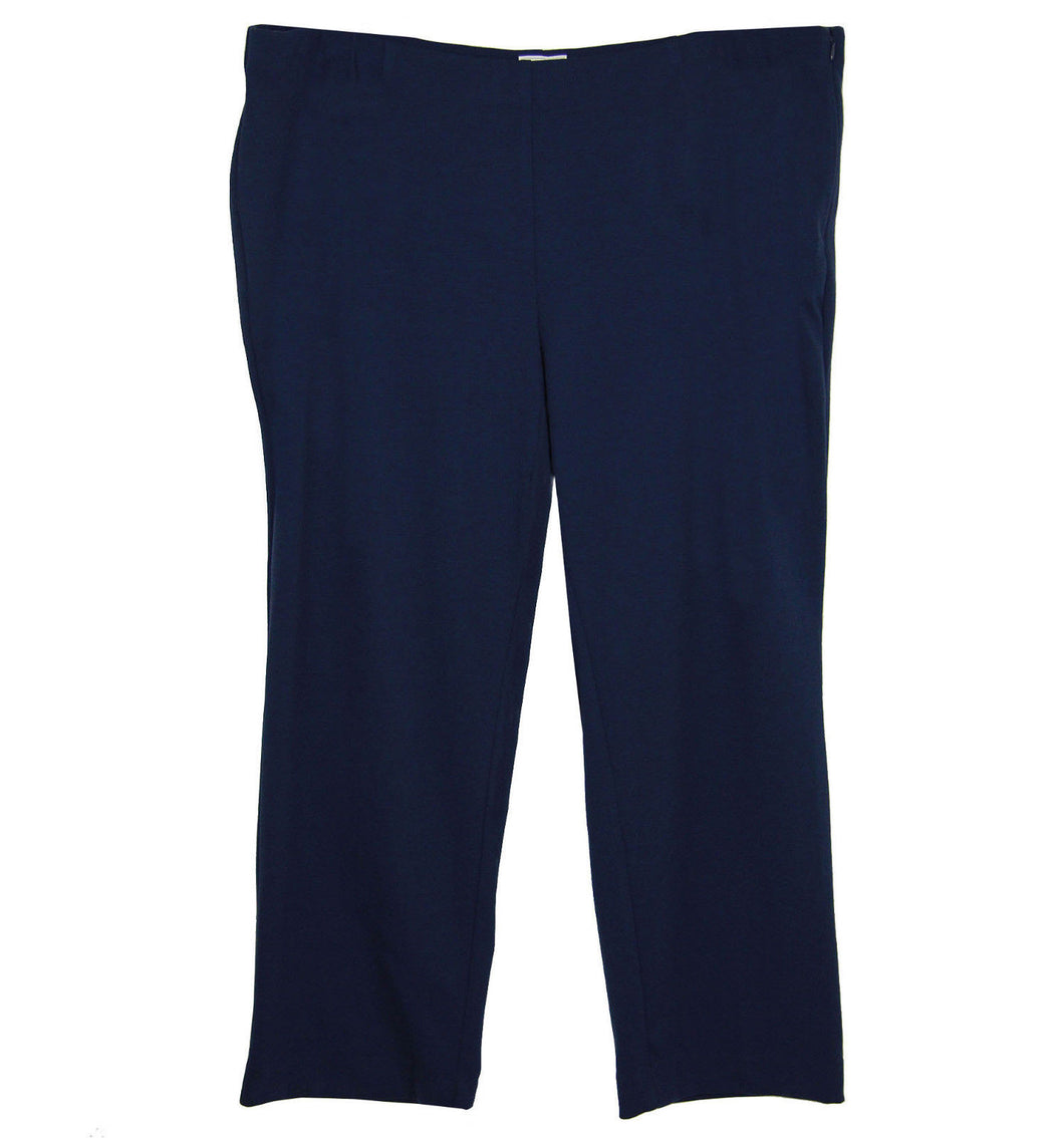 Charter Club Blue Classic Fit Slim Leg Side Zip Casual Pants