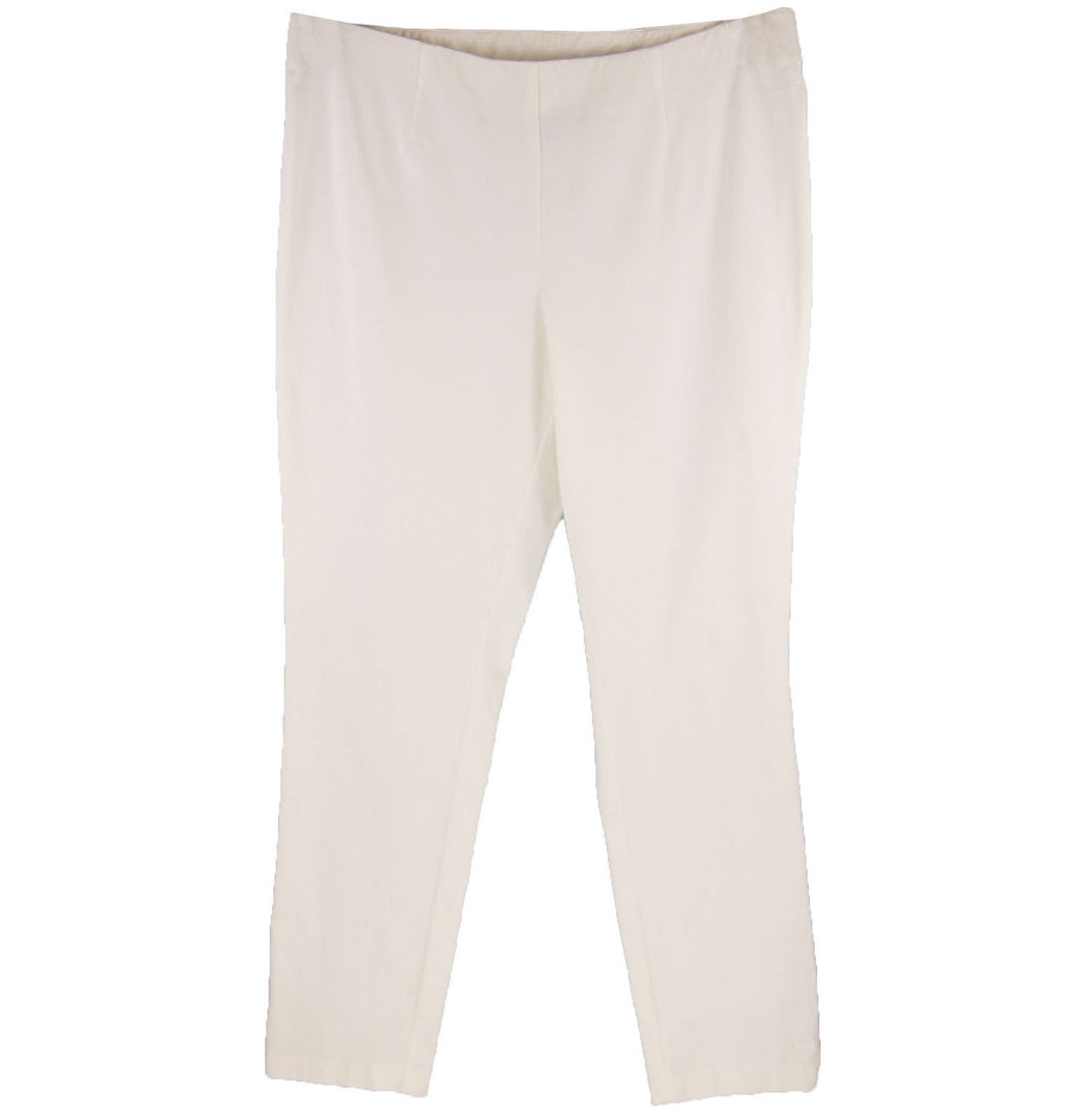 INC Bright White Pull On Elastic Waist Skinny Leg Pants