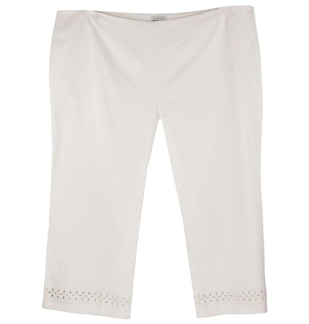 Charter Club White Tummy Slimming Classic Fit Capri Pants