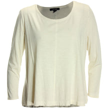 Style & Co Ivory or Black Long Sleeve Swing Hem Seamed Tee Shirt