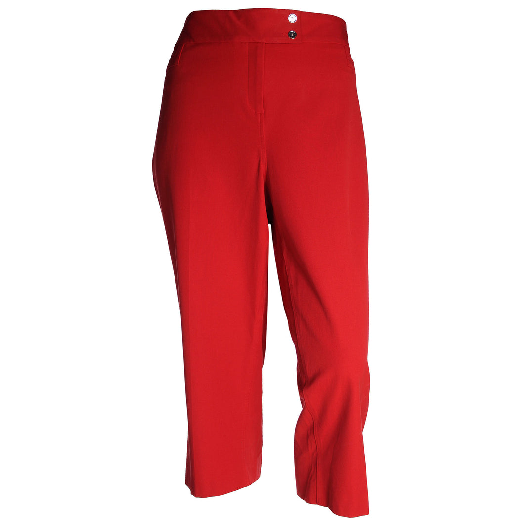 Alfani Red Tummy Slimming Straight Leg Capri Pants Plus Size
