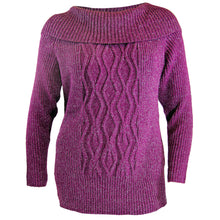 Style & Co Purple or Red Collared Long Sleeve Ribbed Sweater