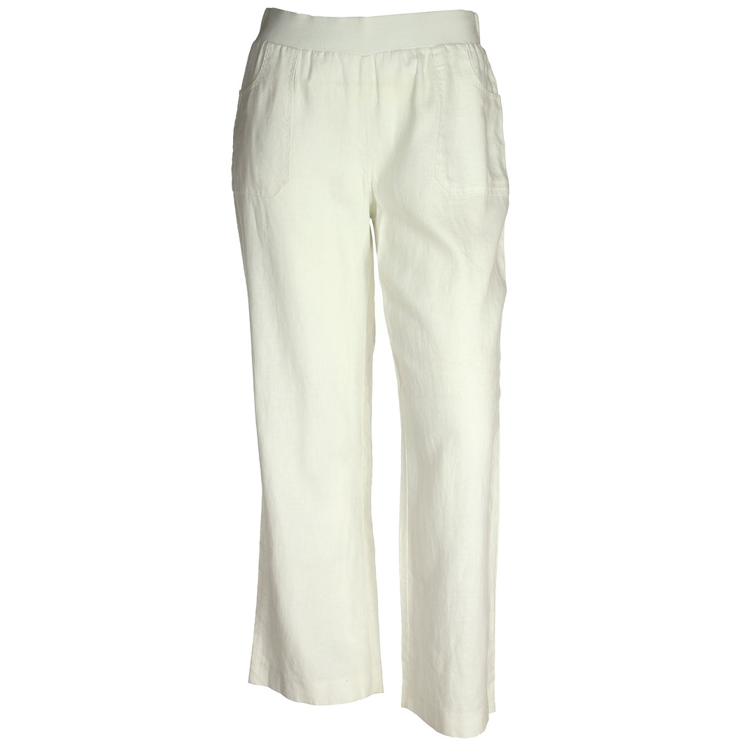INC White Pull on Linen Pants Plus Size