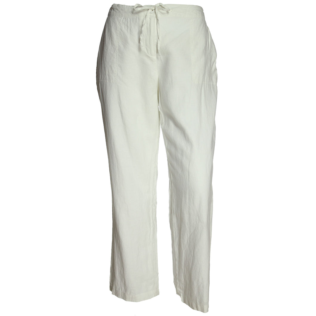 Charter Club White Fully Lined Linen Pants