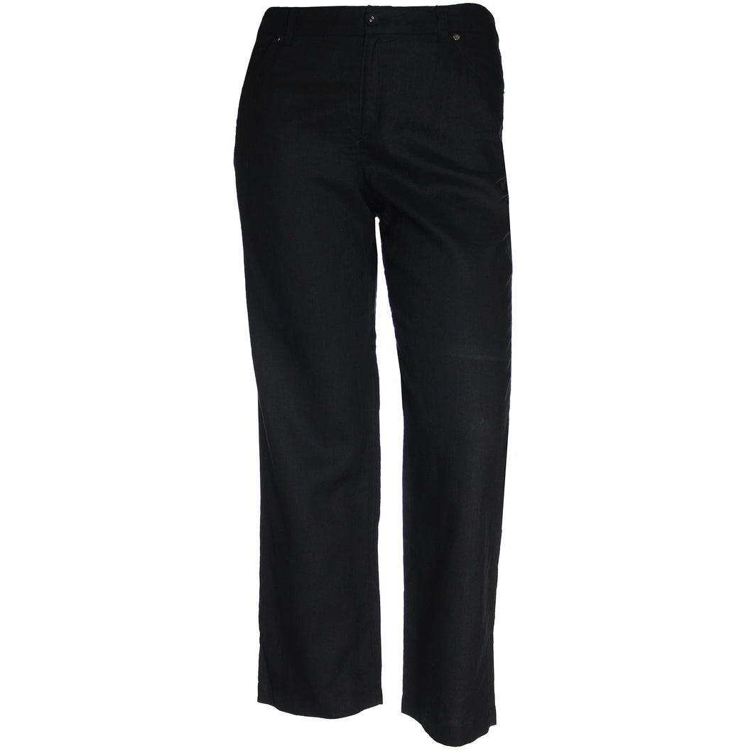 Charter Club Black Straight Leg Linen Pants