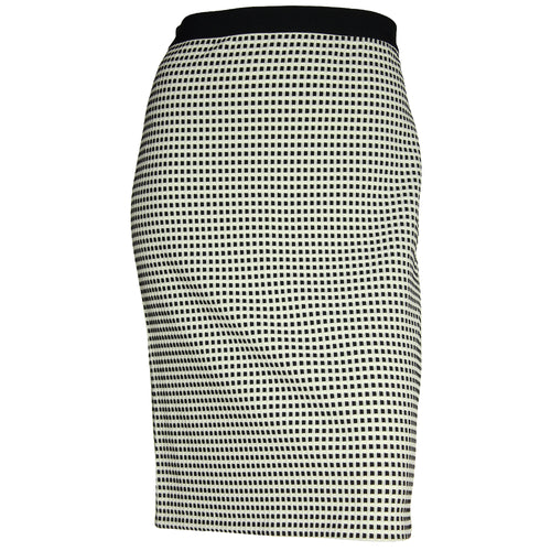 Alfani Black & White Print Stretch Skirt