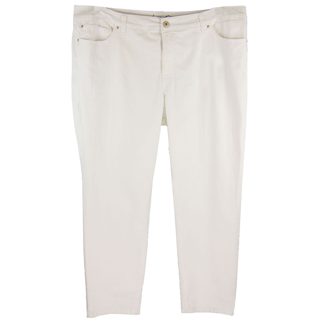INC White Denim Slim Tech Fit Skinny Leg Jeans