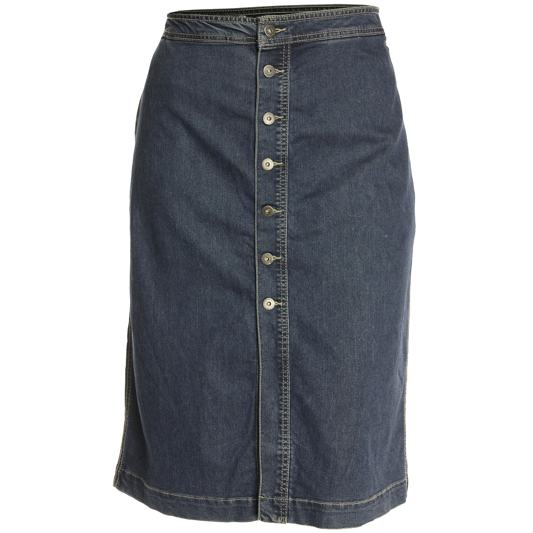 Style & Co Blue Denim Button Front A-Line Jean Skirt