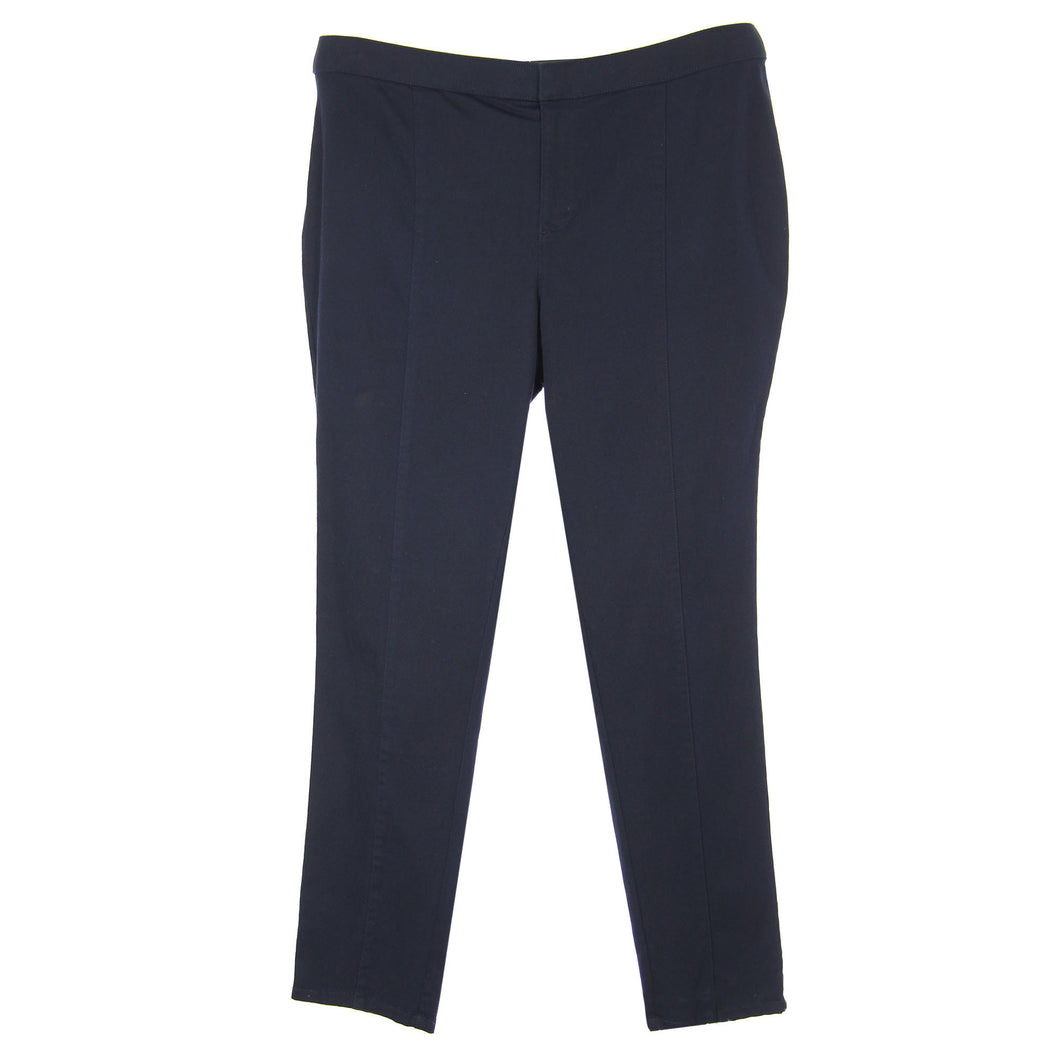 INC Dark Navy Twilight Blue Skinny Leg Casual Pants