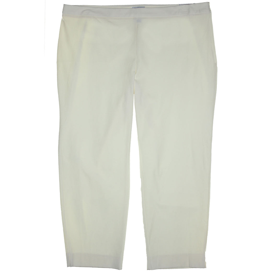 Charter Club Ivory Modern Fit Slim Leg Ankle Length Pants