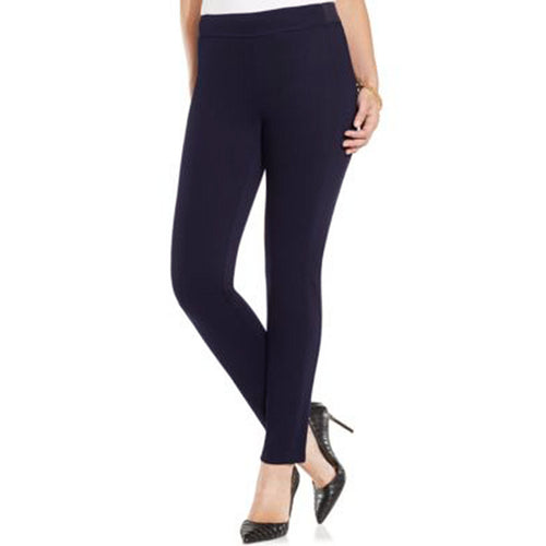 Charter Club Blue Pull-On Classic Fit Skinny Leg Pants
