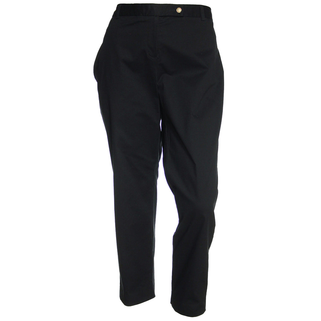 Charter Club Black Modern Fit Slim Leg Ankle Pants