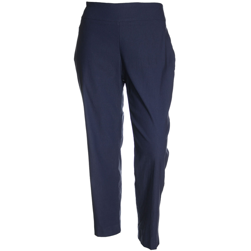 Charter Club Blue Pull-On Slim Leg Tummy Slimming Classic Fit Pants