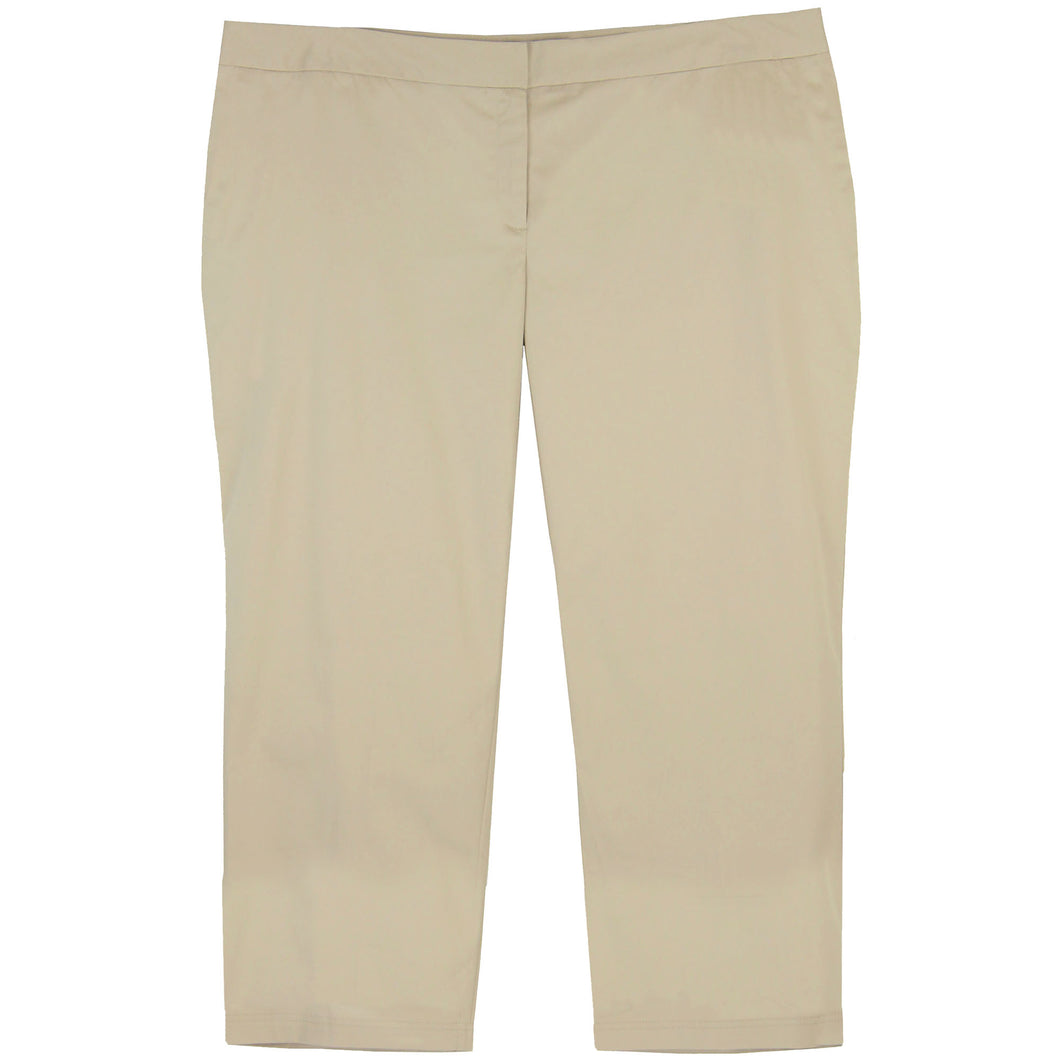 Charter Club Beige Classic Fit Stretch Capri Pants