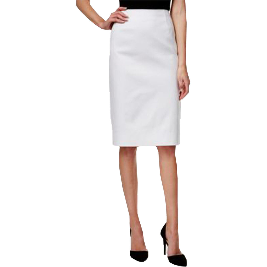 Charter Club White Straight Pencil Skirt