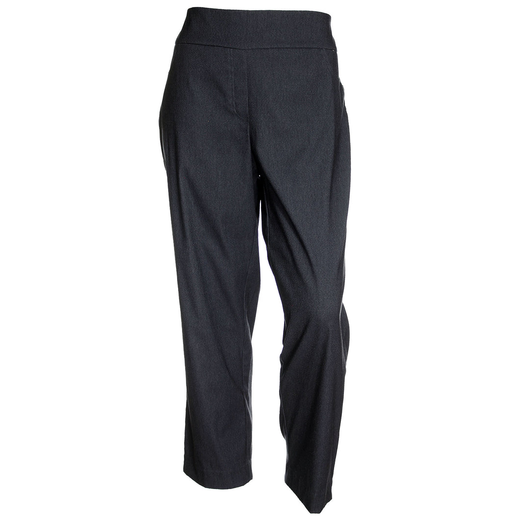 Charter Club Dark Blue Tummy Slimming Pull On Slim Leg Pants