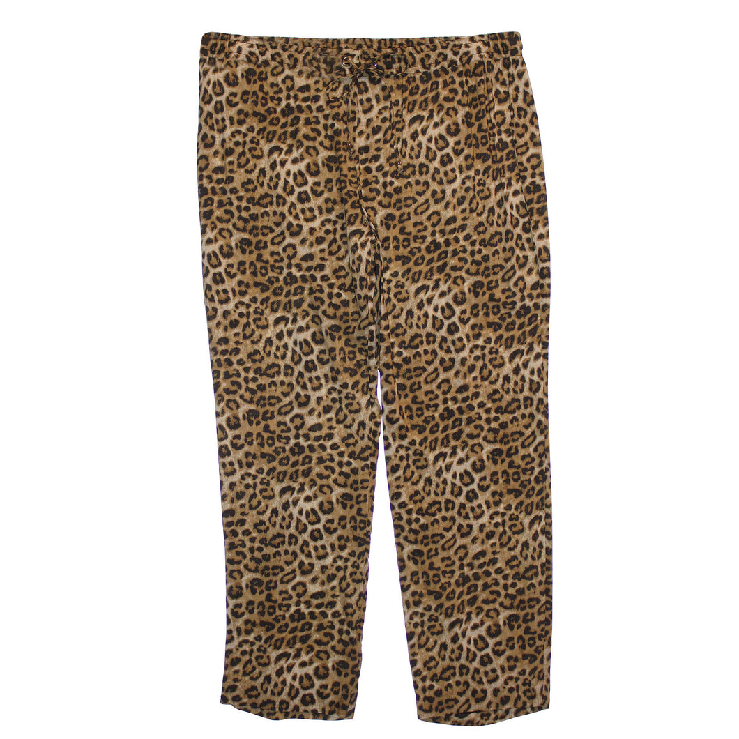 Charter Club Multi Color Animal Print Elastic Waist Pants