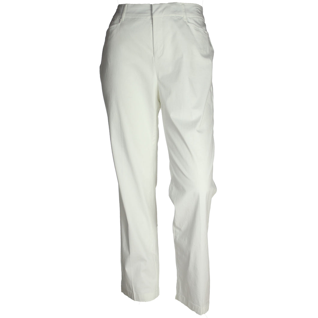 JM Collection White Comfort Waist Tummy Slimming Pants