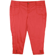 Style & Co. Orange Curvy Fit Slim Leg Cropped Pants