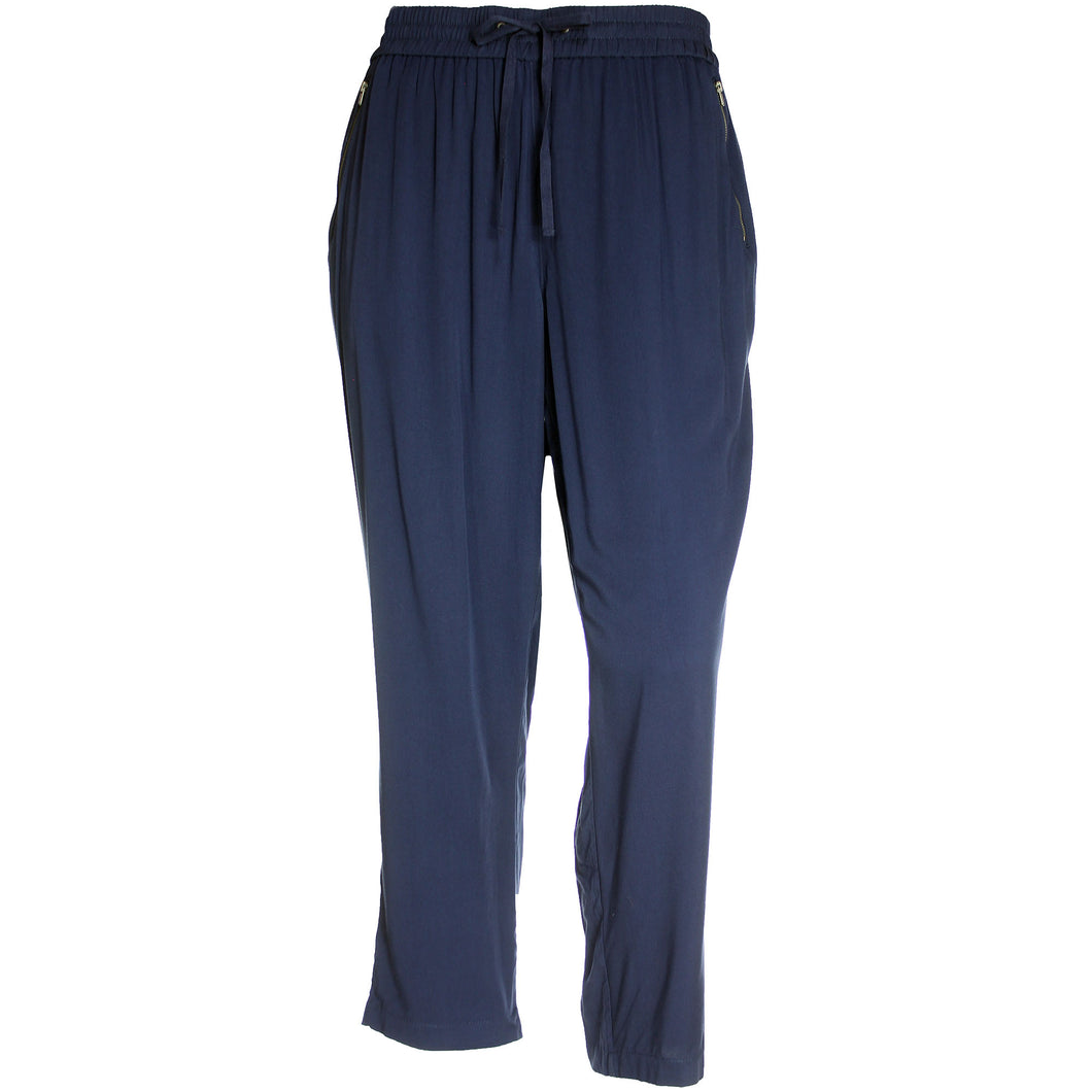 Style & Co Blue Pull On Comfort Waist Mid-Rise Tapered Leg Pants