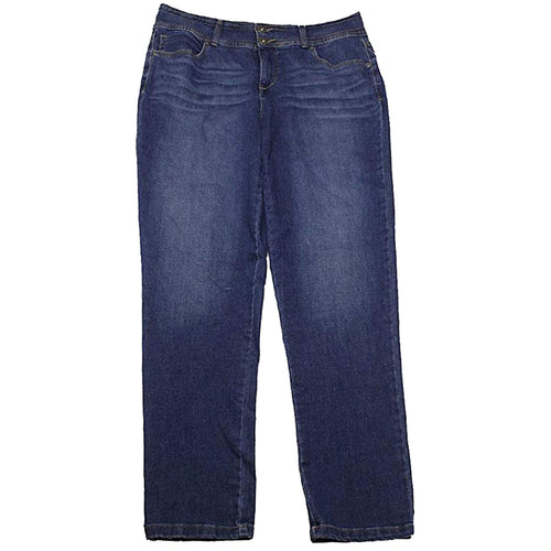 Style & Co Blue Stretch Denim Tummy Control High-Rise Skinny Leg Jeans Plus Size