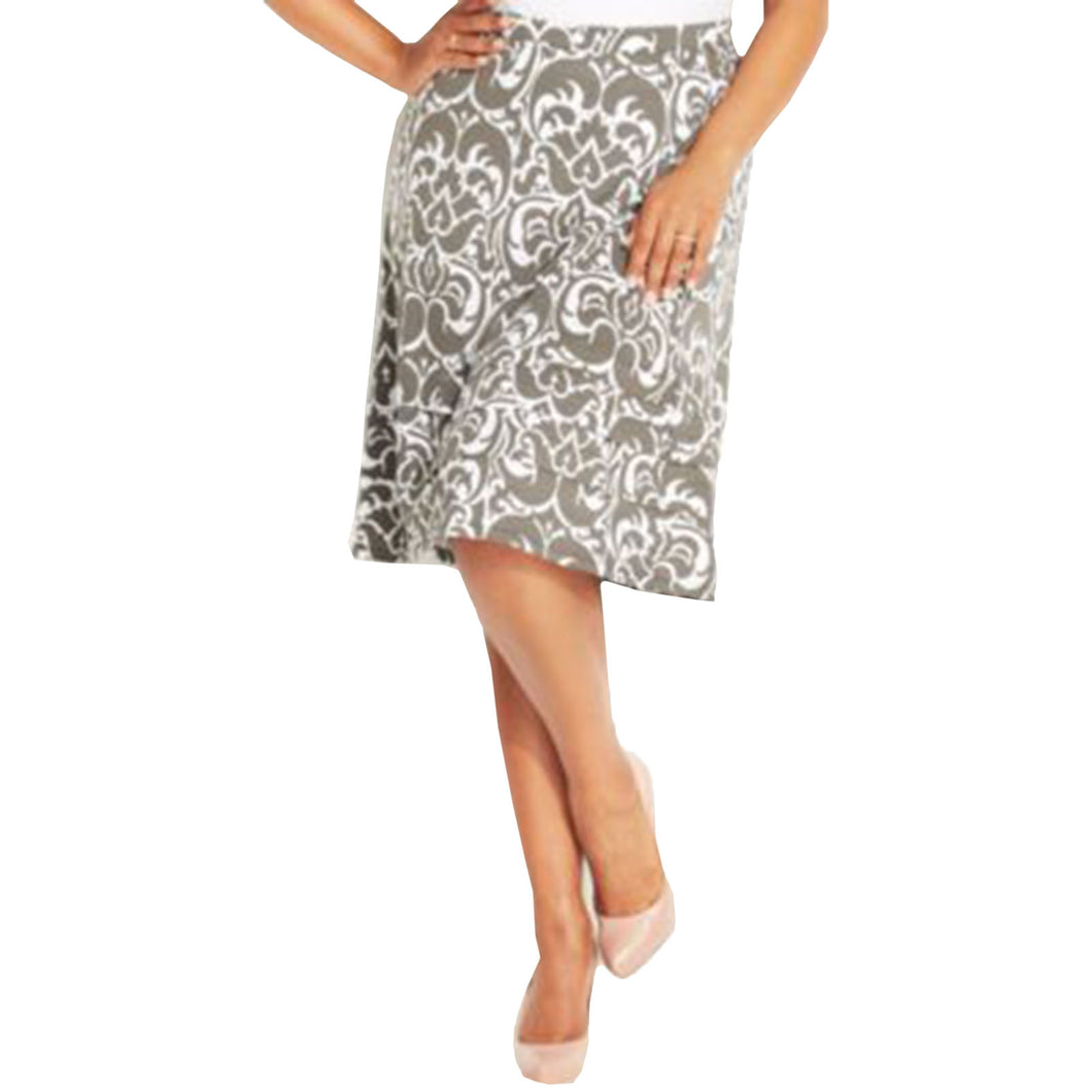 INC Multi Color Print Pull on A-Line Skirt Plus Size