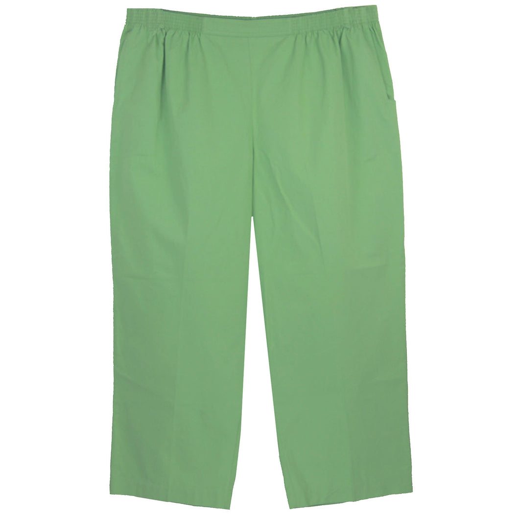 Alfred Dunner Green Pull On Pants