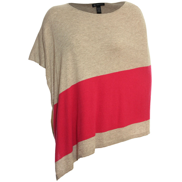 INC Color Block Poncho Style Sweater