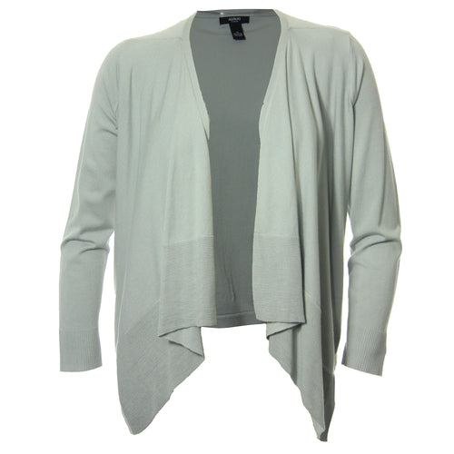 Alfani Gray Long Sleeve Draped Open Front Cardigan Sweater