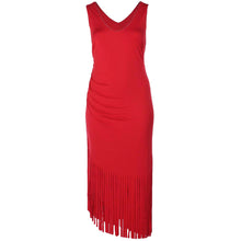 INC Red Sleeveless Ruched Fringed Asymmetric Hem Maxi Dress Plus Size