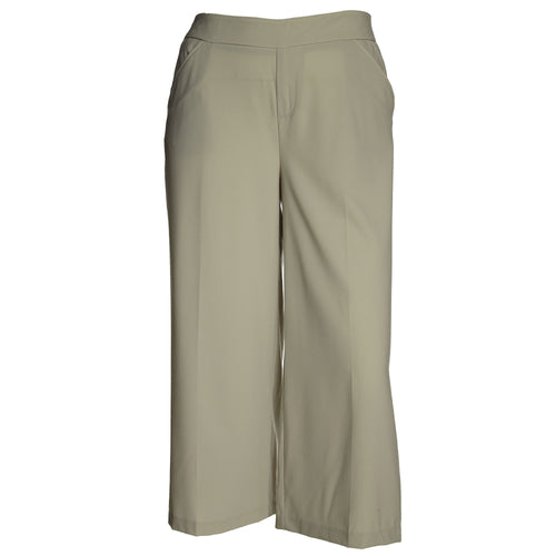INC Beige Cropped Flare Leg Trousers Pants