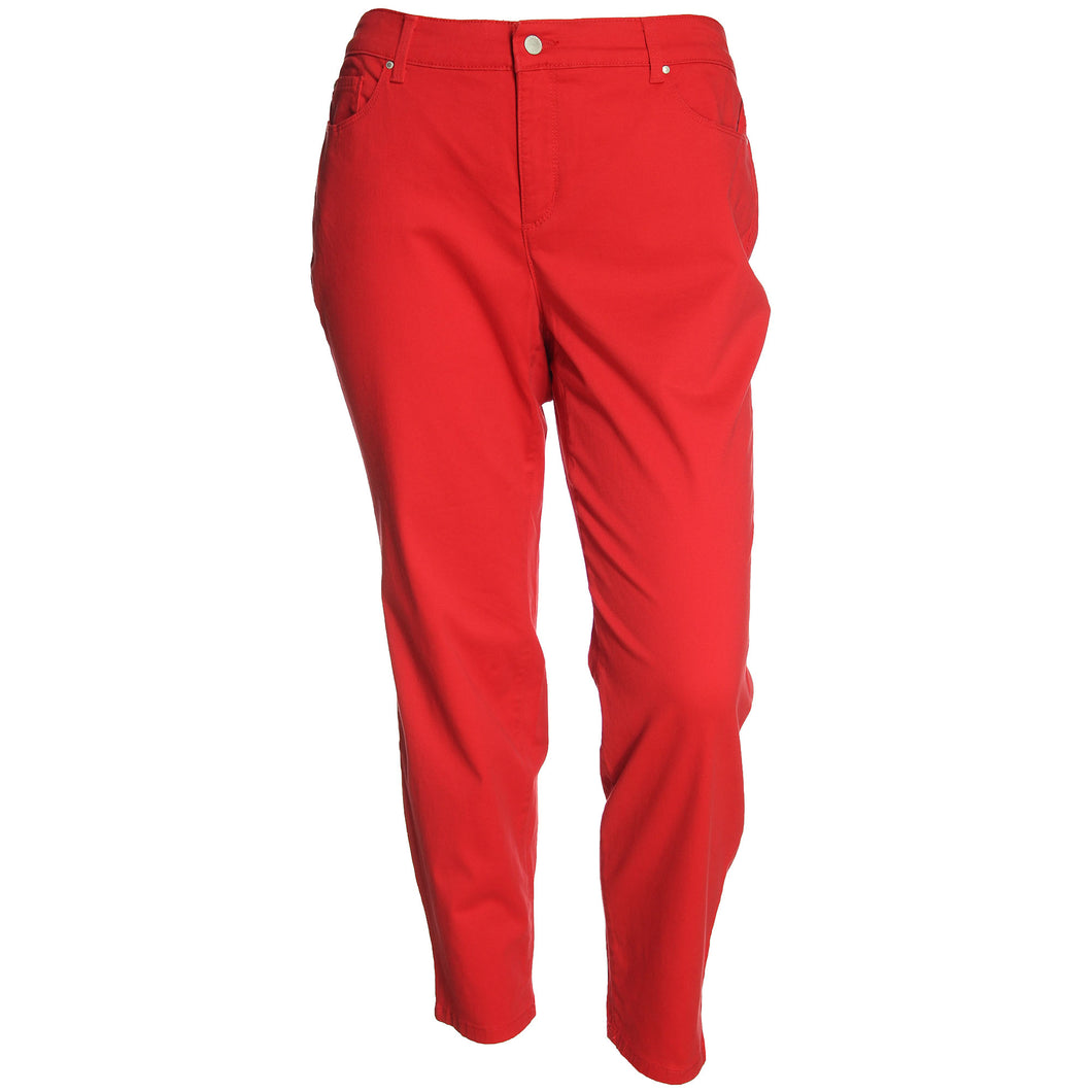 Charter Club Red Skinny Leg Tummy Slimming Ankle Jeans