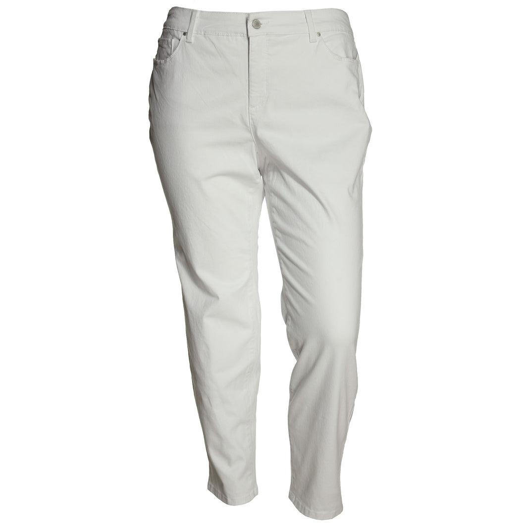 Charter Club White Skinny Leg Tummy Slimming Ankle Jeans
