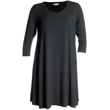 Style & Co Black 3/4 Sleeve Swing Hemline Dress