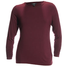 Alfani Red or Blue Long Ruched Sleeve Crew Neck Shirt