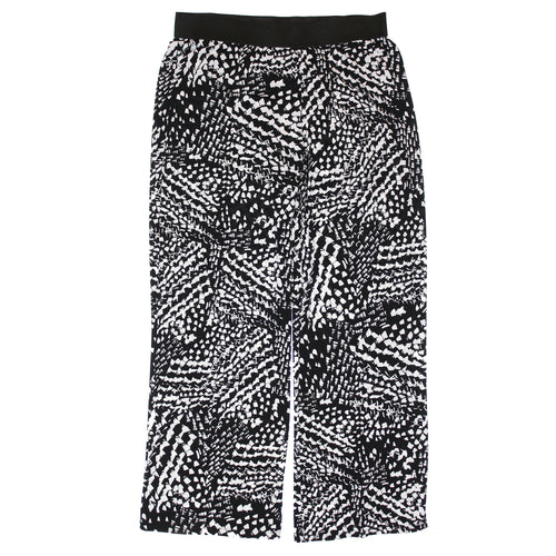 Alfani Black & White Geometric Print Wide Leg Palazzo Pants