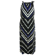 Alfani Multi Color Chevron Striped Sleeveless Maxi Knit Dress