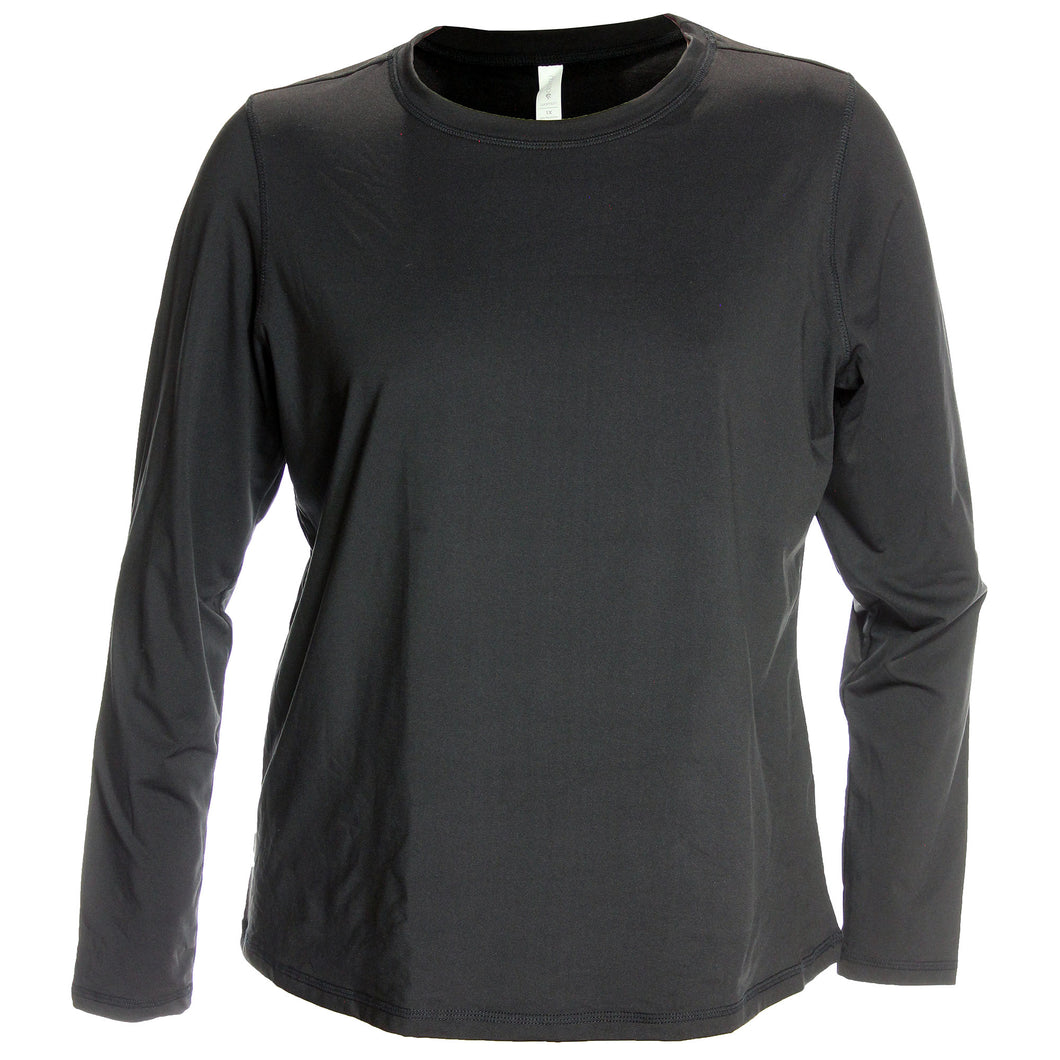 Ideology Black Long Sleeve Base Layer Knit Top