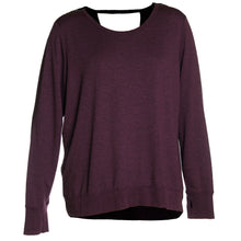 Ideology Purple or Black Long Sleeve Open Back Knit Top