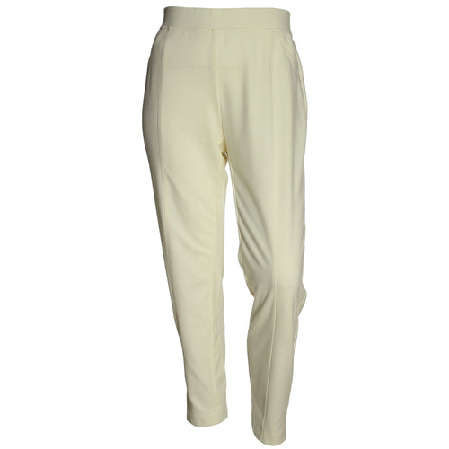 JM Collection Ivory Pull-On Straight Leg Pants
