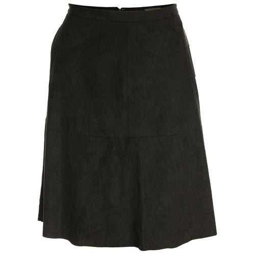 Vince Camuto Black Faux Suede A-Line Skirt