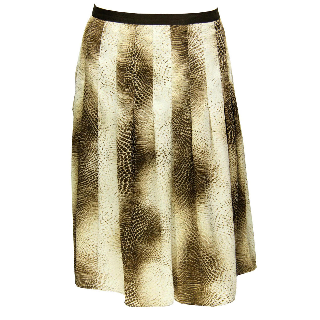 Jones New York Walnut Multi Color Snake Print Skirt