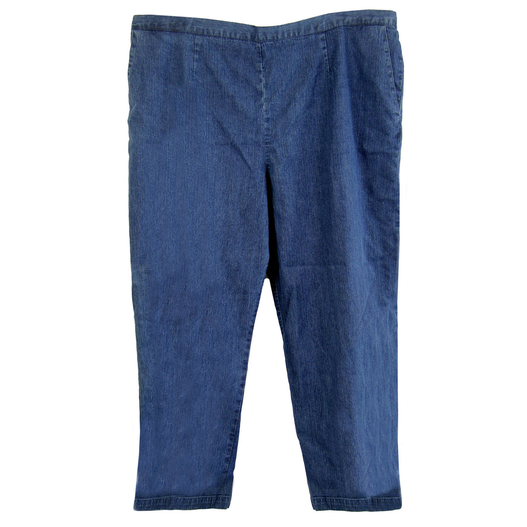 Alfred Dunner Blue Denim Pull On Straight Leg Pants